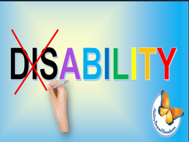 """The word """"Disability"""" displayed in colourful letters and has """"Dis"""" crossed out with a red line"""