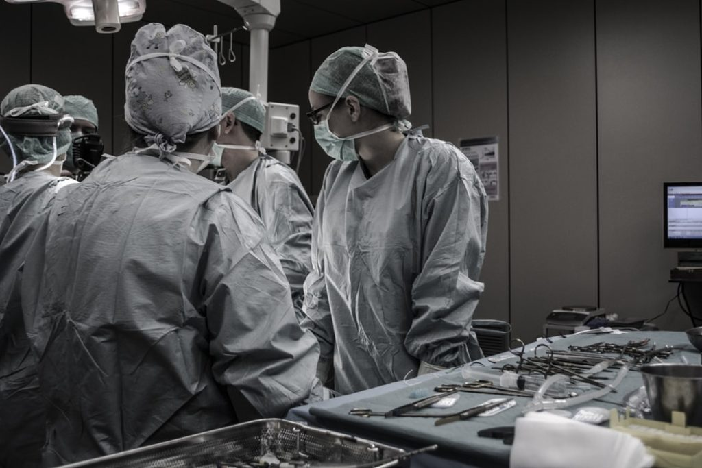 Medical team in the operating theatre
